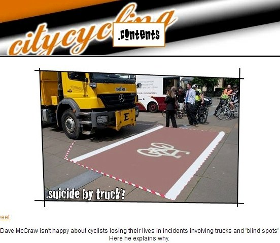 citycycling truck danger