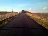Fifty miles of near-deserted tarmac to the south of Edinburgh, with just a couple of busier bits, and plenty of cake!