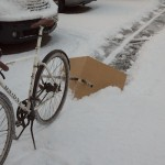 Bicycle snow plough: mk1