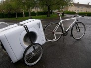 The excellent Carry Freedom Y-frame trailer... a superb load hauler for your bicycle, and it flat packs in seconds!