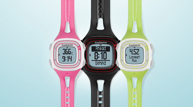 Garmin Forerunner 10 black pink green review main image