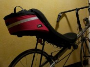 The excellent Solo Aero bag includes bottle holder, bold colours and styling. Light, tight and very streamlined!