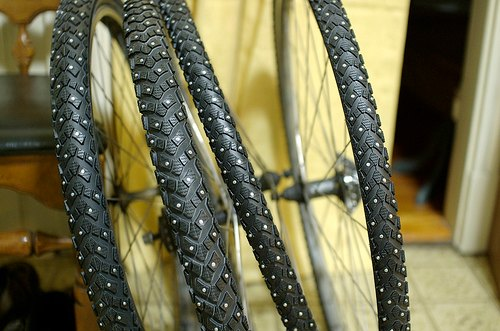 Studded bike tyres  so very now • Dave McCraw 007257fe7