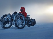 "ICE Trikes unveil a custom 3x26"" fat trike designed to take on the South Pole itself..."