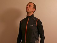 A casual cut, mid weight windproof gilet, well vented and with bright (if slightly oddly placed) reflectives.